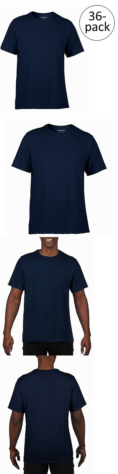 T-Shirts 15687: 36) New Gildan Dry Fit Mens Small S Adult Short Sleeve Performance T-Shirt Navy -> BUY IT NOW ONLY: $50.99 on eBay!