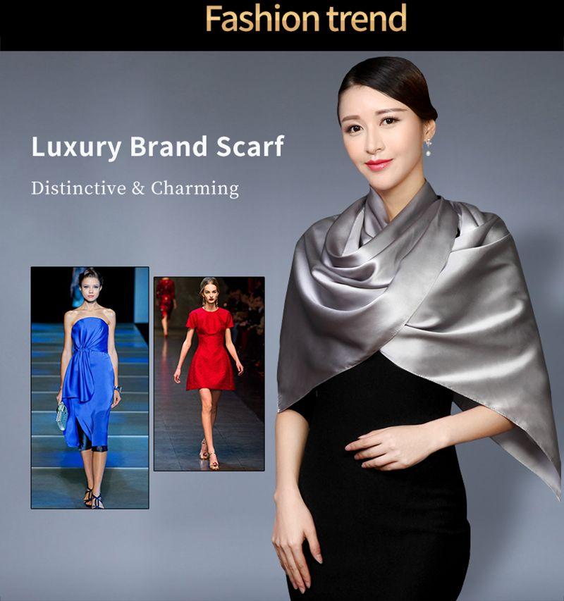 d4925d2d0e4 2017 100% Silk Rectangle Scarves Women Silk Scarf Luxury Brand Scarf ...