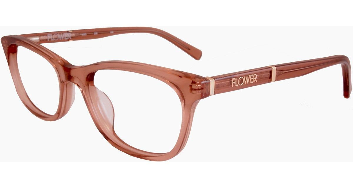7bba15f4ea83 The new Maggie frames from Flower Eyewear might look all business but they  balance their polished professionalism with a wink. Crystal Nude