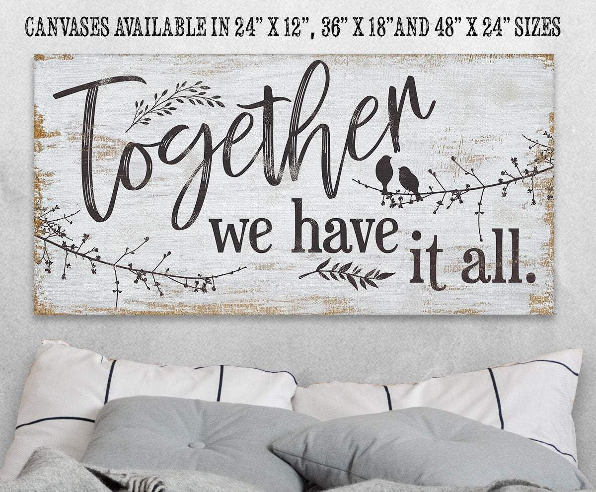 Not Printed on Wood Ready to Hang Makes a Great Special Occasion Gift Under $50 Perfect Above Couch or Headboard - Stretched on a Wood Frame Large Canvas Wall Art Go Be Great