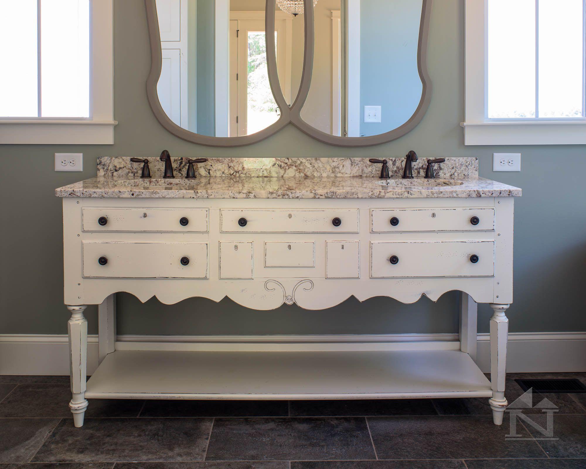 refurbished antique furniture piece to his her sink vanity four refurbished antique furniture piece to his her sink vanity four gables farmhouse floor plan