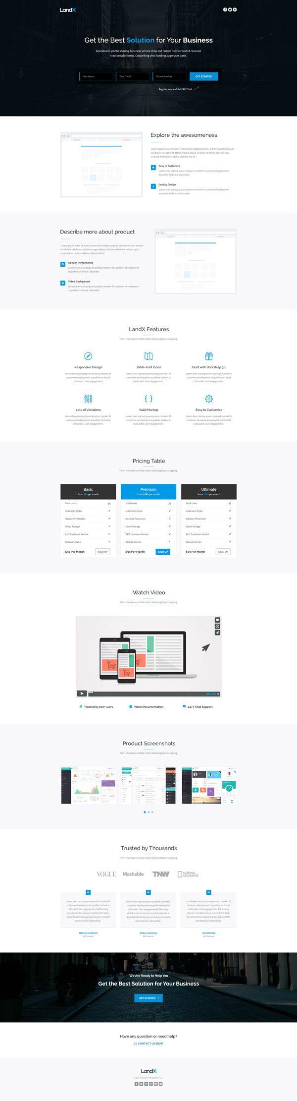 Plantilla web en PSD libre para descarga | Diseño Web | Pinterest ...