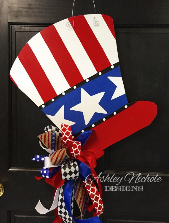 SHIPS NOW Patriotic Uncle Sam Hat by DesignsAshleyNichole on Etsy ... 17be4308c1b0