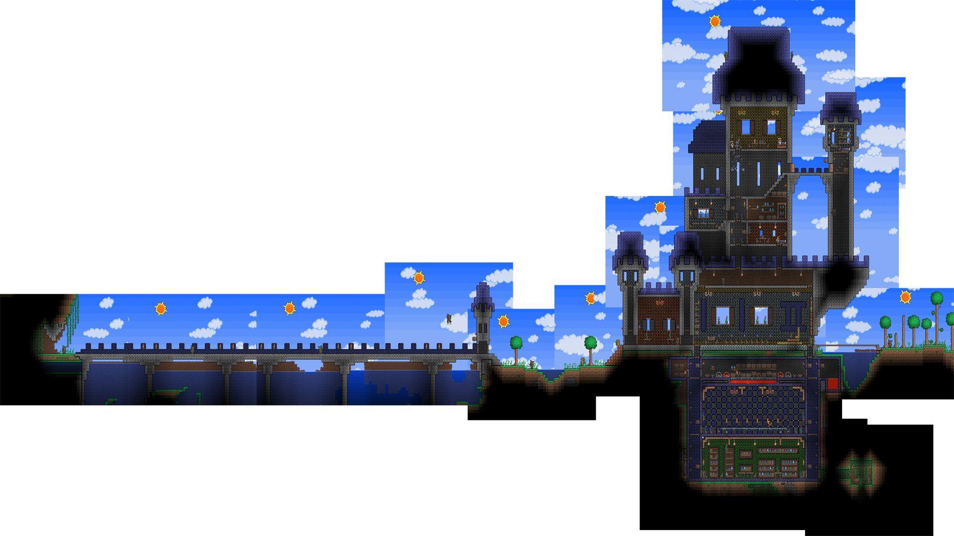 terraria large castle | terraria | pinterest | terraria