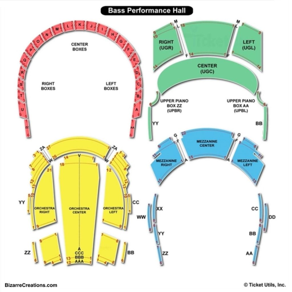 Elegant Bass Hall Fort Worth Seating Chart