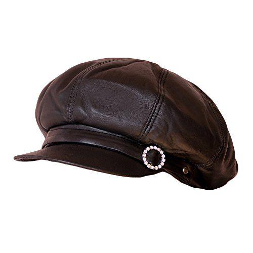 Dazoriginal Womens Big BakerBoy Cap Genuine Leather Hat -  Newsboy  Vintage  Hat - Slouchy  Baker Boy Hat  Gatsby Irish Ivy Caps (Black) Dazoriginal  Free ... d62b5761da4