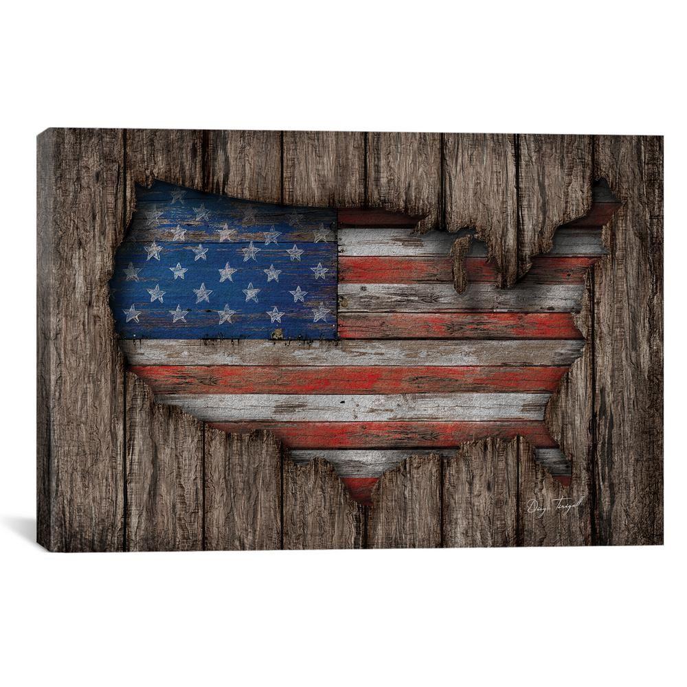 icanvas american wood flag by diego tirigall canvas wall on icanvas wall art id=83498