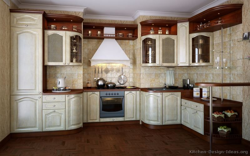 Kitchen Idea Of The Day Traditional Italian Kitchen With Unique Curved Design Kitchens Of