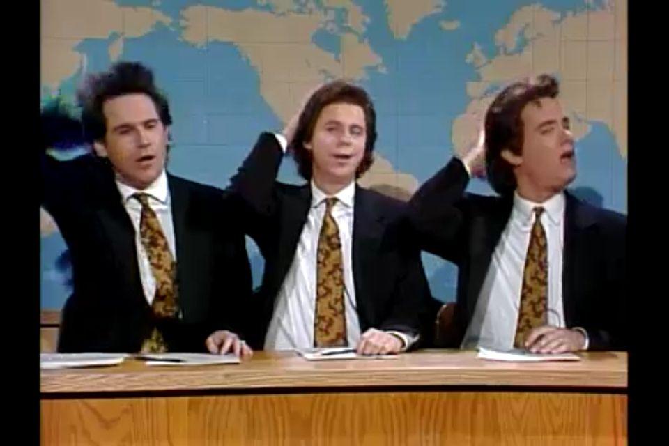 Dennis Miller Dana Carvey And Tom Hanks As Dennis Millers