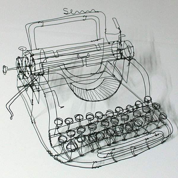 Wire-art-Martin-Senn-schreibmaschine   Gotta Appreciate   Pinterest ...