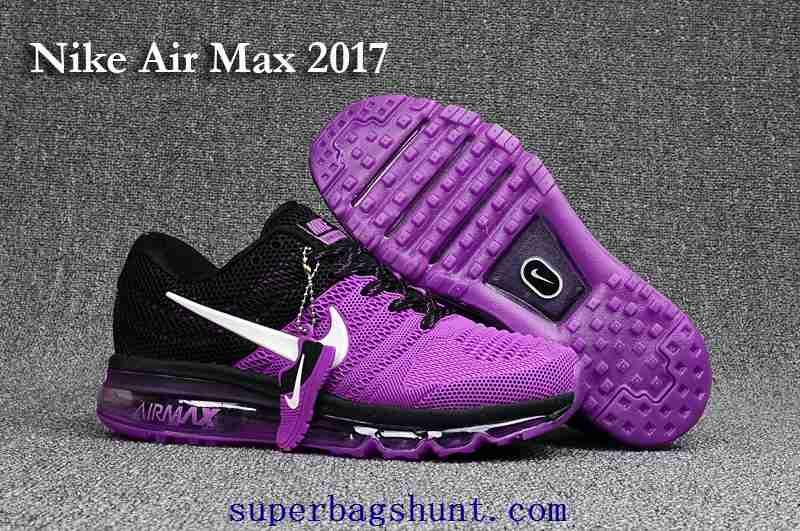 New Nike Air Max 2017 KPU Purple Women Black Shoes