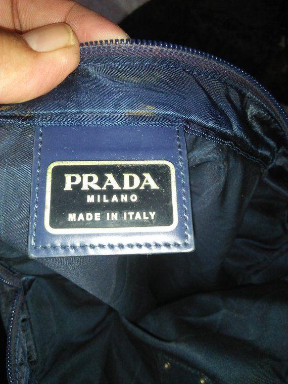 885408104b31 Vintage Authentic PRADA MILANO Sling Bag Made In Italy Opti Zipper ...