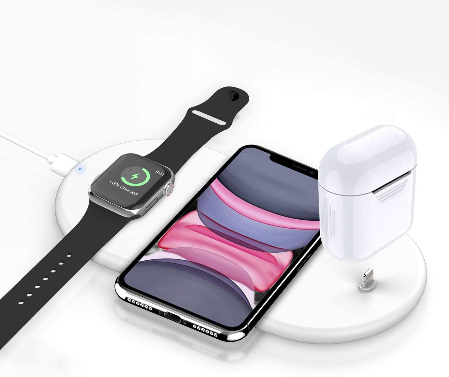 Meilleur Chargeur Iphone Airpods Apple Watch Sans Fil En 2020 Iphone Chargeur Iphone Support Portable