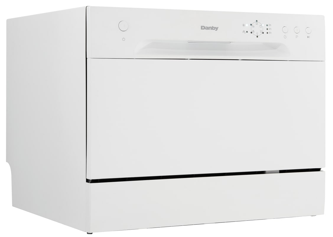 Danby Ddw621wdb White 22 Inch Wide 6 Place Setting Energy Star Countertop Full Console Dishwasher With Led Display In 2020 Countertop Dishwasher Dishwasher White Dishwasher