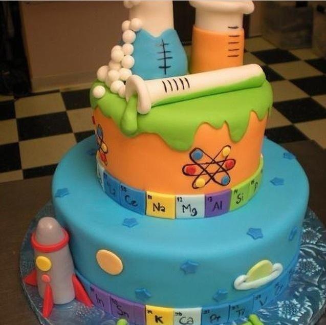 Chemistry Wedding Cake Topper