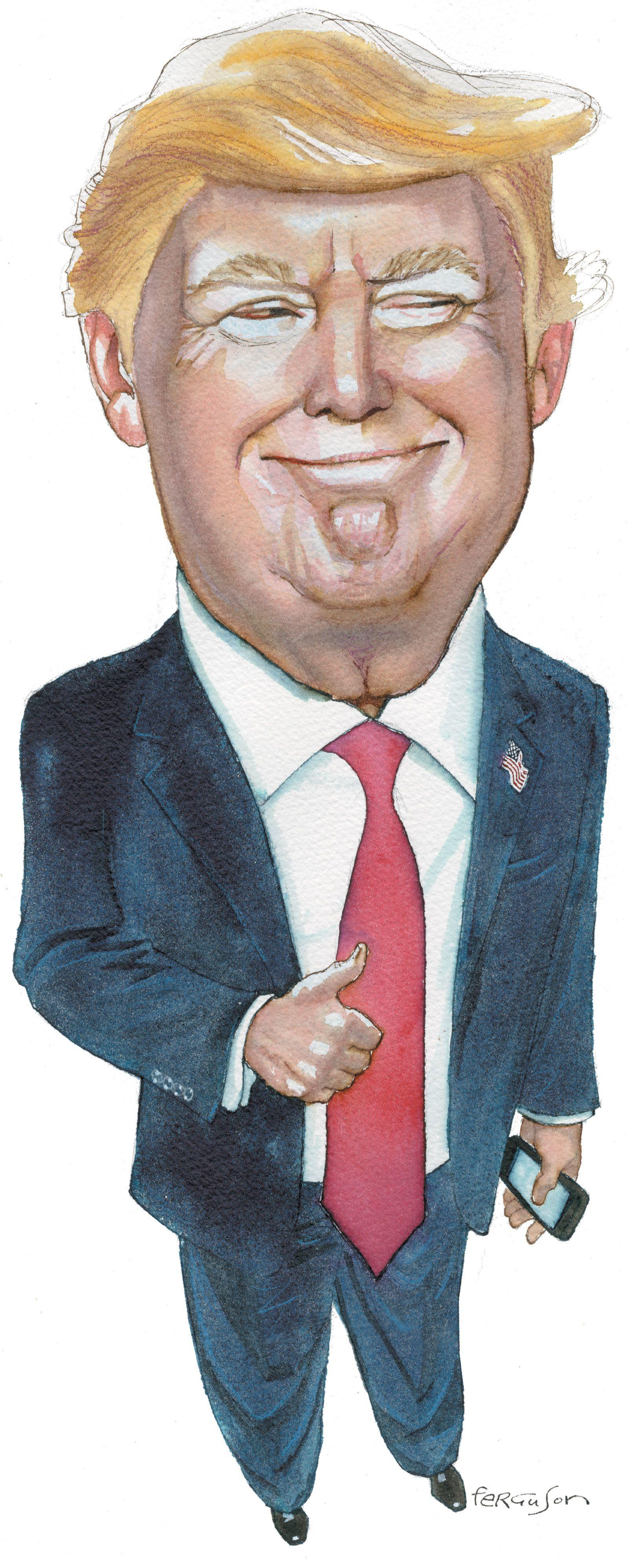 Donald Trump Karikatur Resim