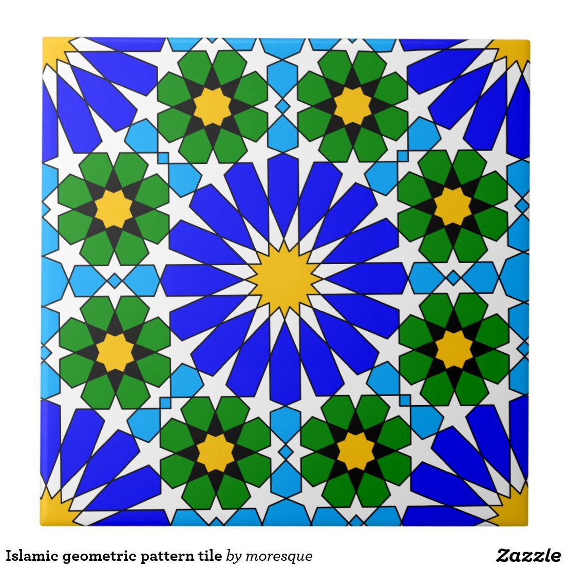 Islamic geometric pattern tile tiles pinterest islamic tiles get your hands on zazzles colorful mosaic pattern ceramic tiles search through our wonderful designs find great tiles to decorate your home dailygadgetfo Images