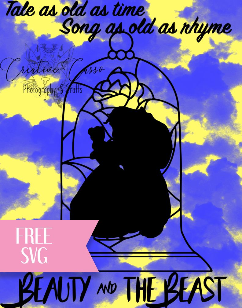 bbaa908dce6 Beauty And The Beast Free SVG File Download Cricut Cut File
