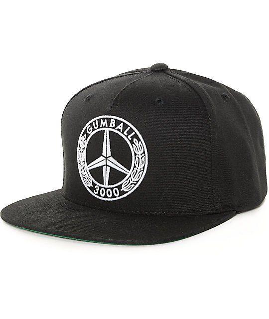 Gumball 3000 Peace Black Snapback Hat Zumiez Black Snapback Black Snapback Hats Snapback Hats