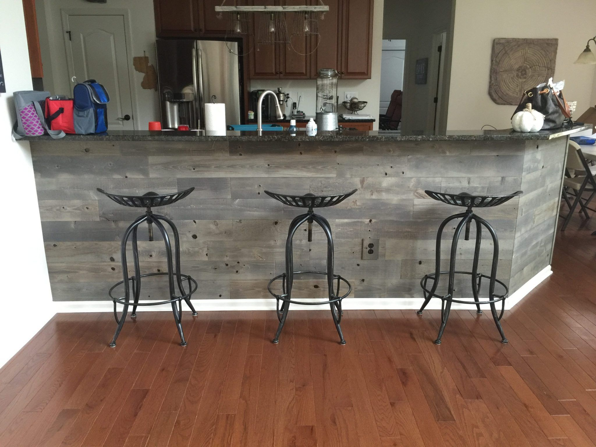 Timberchic Easy To Use Peel And Stick Wood Planks To Update Your Home Reclaim Your Space Wood Interior Design Peel And Stick Wood Wood Kitchen Island