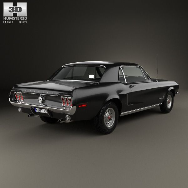 3d Model Of Ford Mustang Hardtop 1968 Ford Mustang Muscle Cars Mustang Mustang