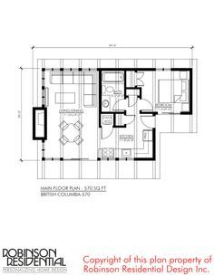 570 Sq Ft British Columbia Small Foundation Home Plans Small House Floor Plans House Plans Cottage Floor Plans
