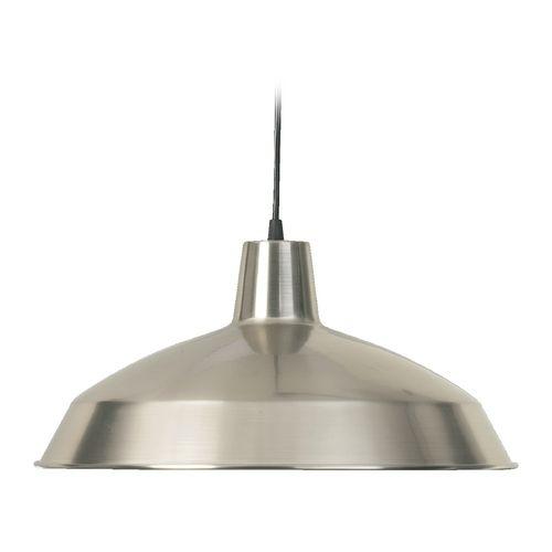 Barn Light Satin Nickel 16-inch Wide By Quorum Lighting At