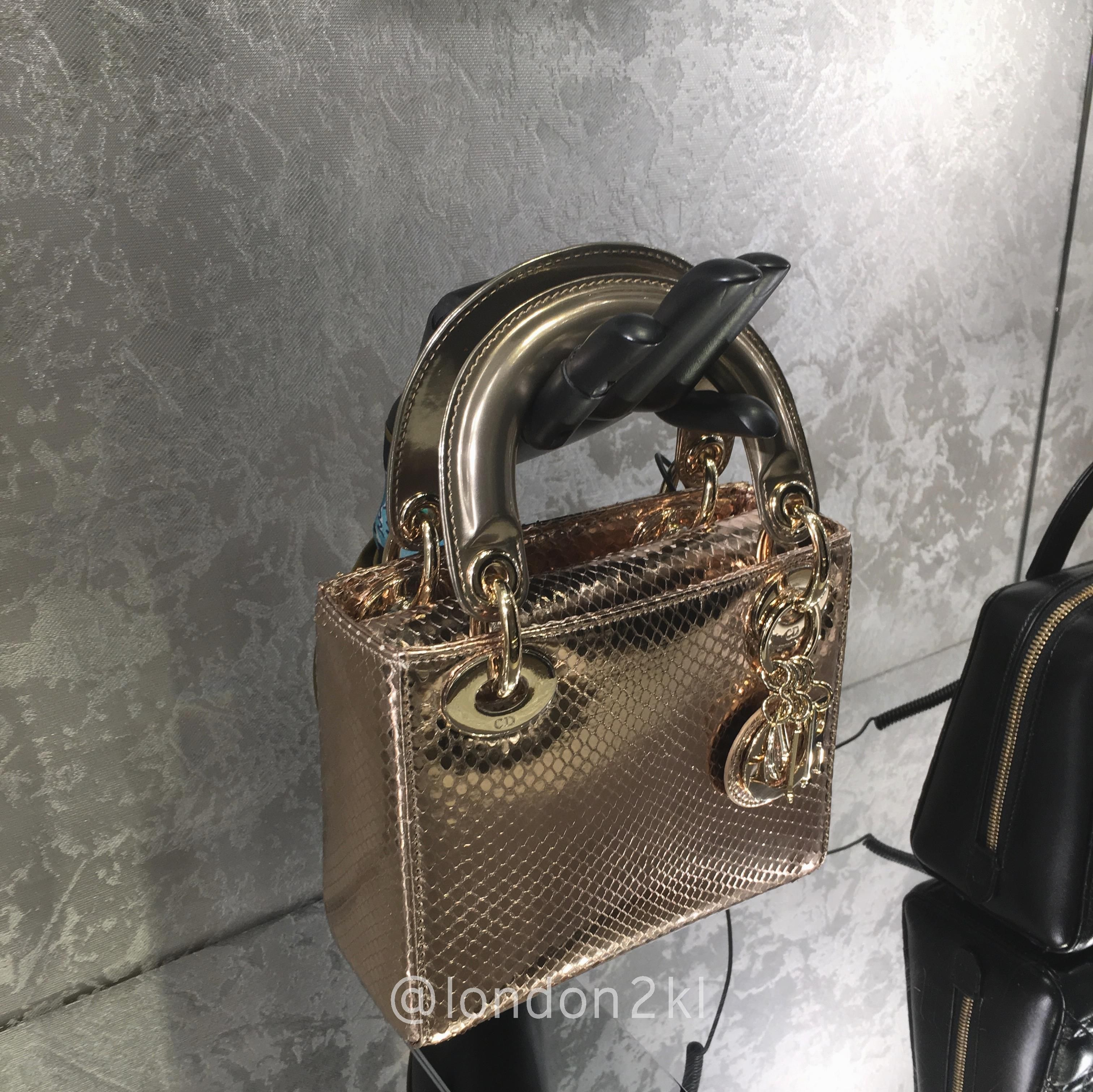 a9d213c575bb Mini Lady Dior in Gold Python ❤❤❤ it  Order now. Once it s gone ...
