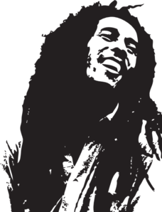 bob marley portrait clip art vector clip art online royalty free rh pinterest com bob marley clip art free Bob Marley Easy Stencil