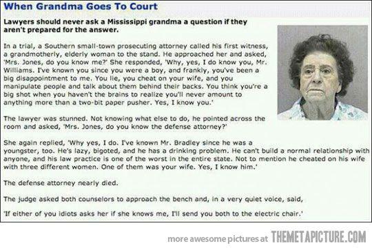 Go grandma!