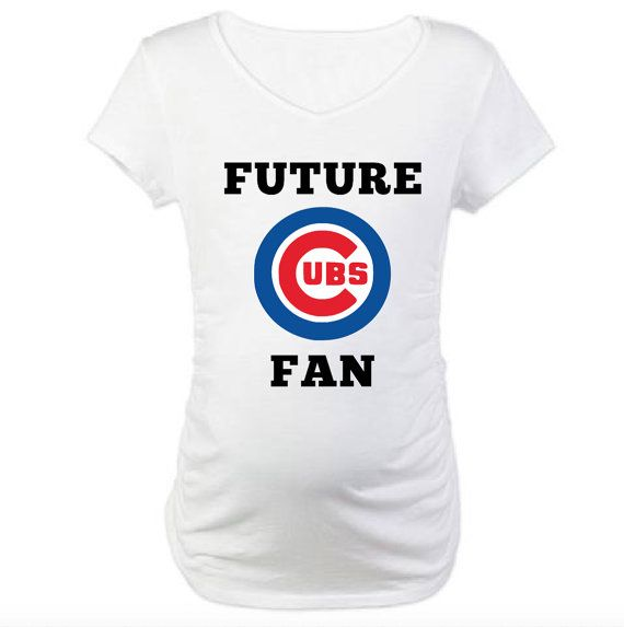 0ad3ab4d Future Chicago Cubs Fan Pregnancy Shirt! Future Baseball Fan! | baby ...