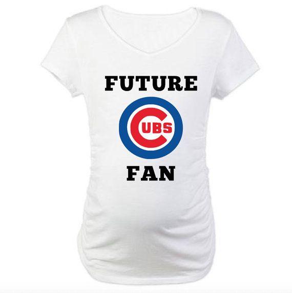 future chicago cubs fan pregnancy shirt future baseball