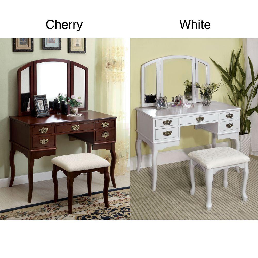 Iuve always wanted a vanity doris solid wood vanity table and stool