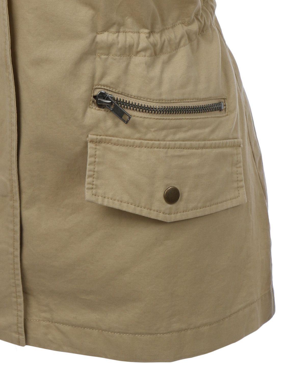 LE3NO Womens Sleeveless Military Anorak Jacket Vest with Pockets | LE3NO