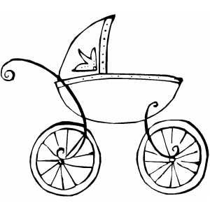 french baby carriage outline  Jens Baby Shower  Pinterest