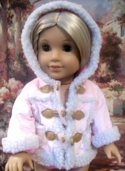 PINK TOGGLE JACKET FOR AMERICAN GIRL 18 INCH DOLLS - eCrater Stores Network