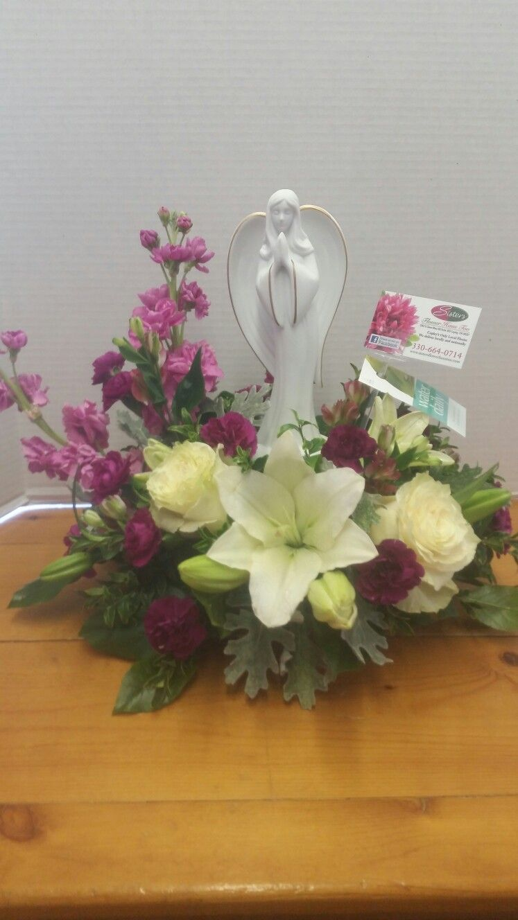Keepsake Angel sympathy arrangement Sisters Flower Haus