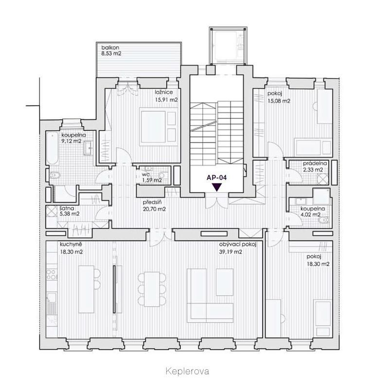 Good Apartment, 3 Bedrooms, Prague Keplerova   Apartment 4 150 In The New  Project In Prague 1