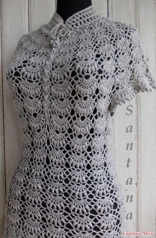 Платье-туника серого цвета