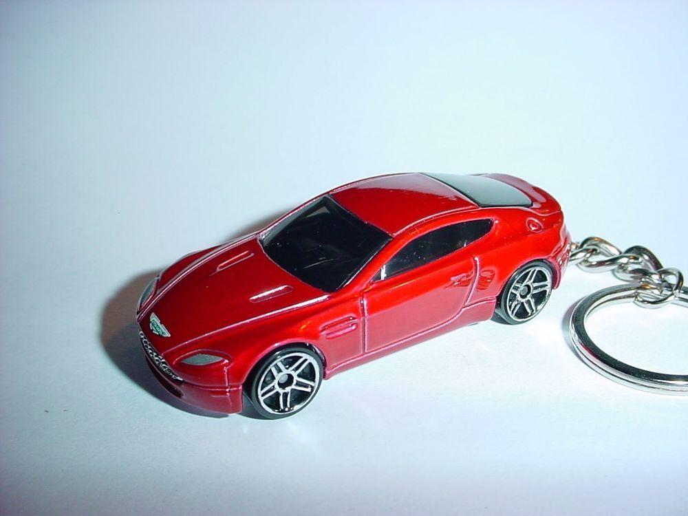 New 3d Aston Martin V8 Vantage Custom Keychain Keyring Key Dark Red