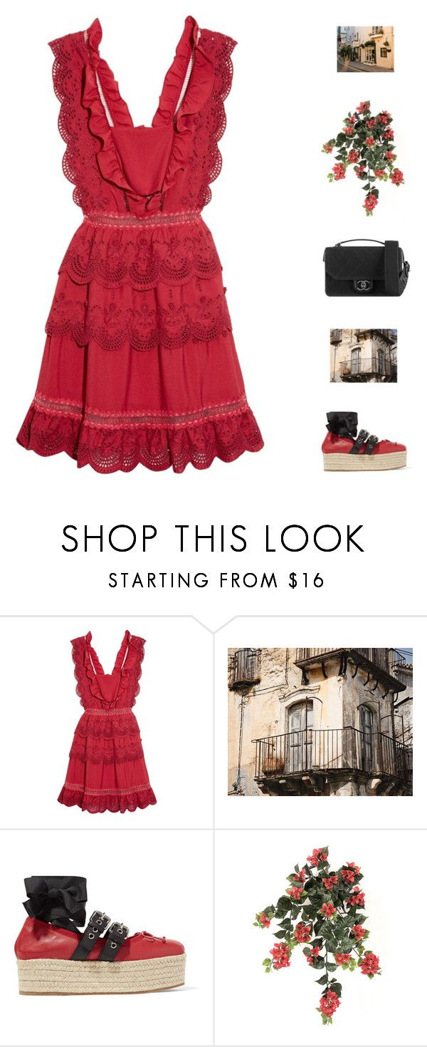 """""""summer"""" by fashionmelka ❤ liked on Polyvore featuring self-portrait, WALL, Miu Miu and Chanel"""