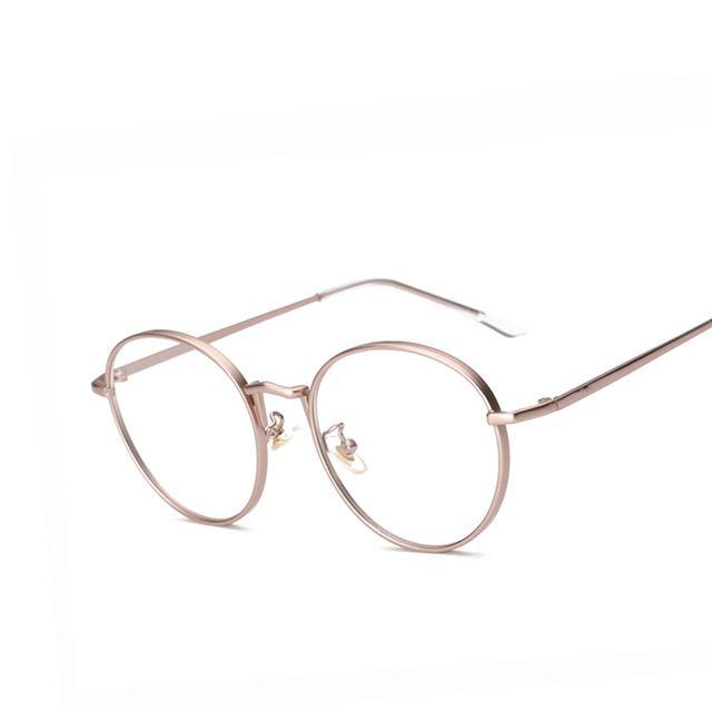 0eae9f19f8814 Armações de Óculos de Olho Para As Mulheres do Metal do vintage Homens  Marca Deisgner óculos Homens Quadro Oval Transparente Óptico Len Eyewear  oculos de ...