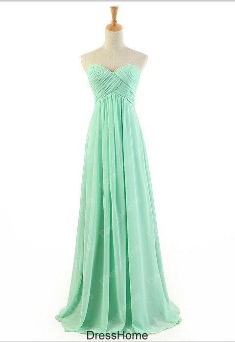 Mint Bridesmaid Dress - Mint Green Bridesmaid Dress / Bridesmaid Dress Mint /  Prom Dress / Long Prom Dress / Mint Green Prom Dress on Etsy, $89.99