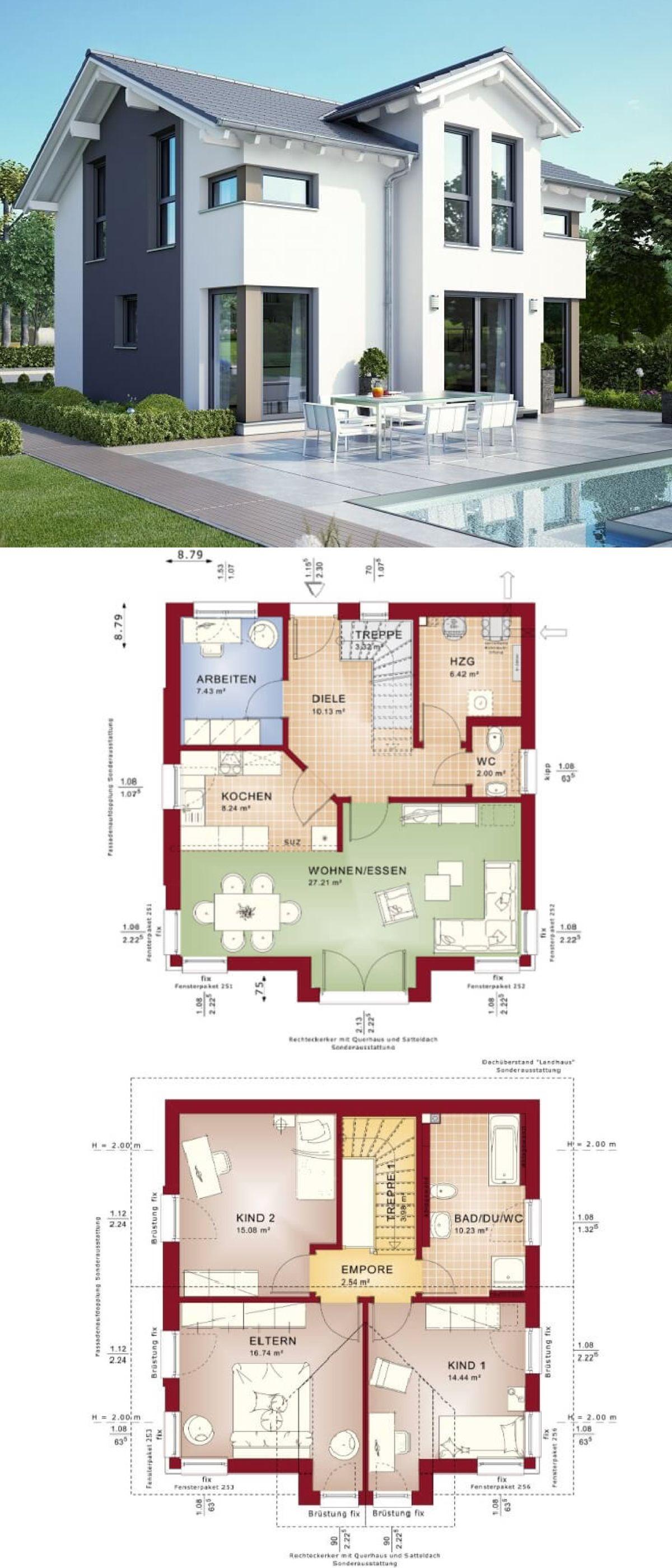 Fesselnde Grundriss Einfamilienhaus 150 Qm Sammlung Von Modernes Mit Satteldach - Celebration 125 V8