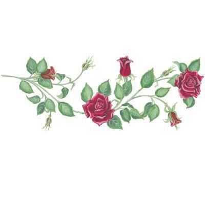 Red Rose Vine Clip Art | Tattoos | Pinterest | Rose vines ...