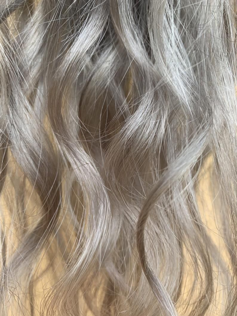 Silver Ponytail Clip In Hair Extensions Blonde Weft Ash Blonde