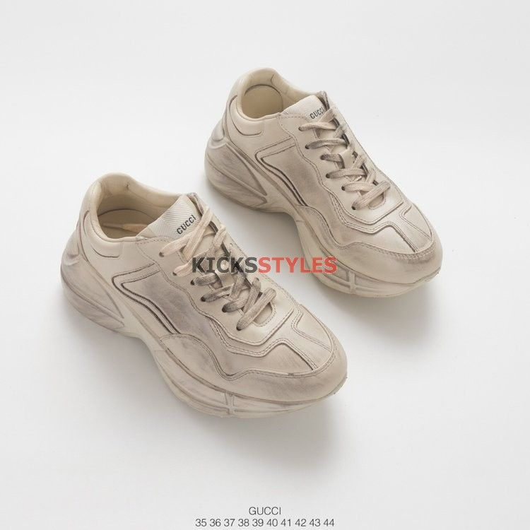 ec7712d16e1 Gucci Rhyton Ivory Leather Sneaker