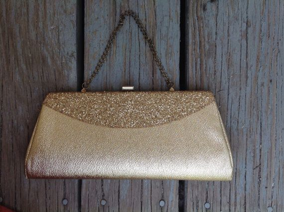 1960's Gold handled clutch by FollowVintage on Etsy, $15.00