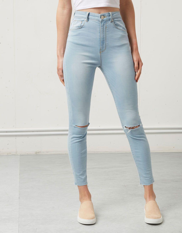 Jeans Bershka Tiro Alto - Jeans - Bershka Espau00f1a | Ideas All For Styles | Pinterest | Bershka ...