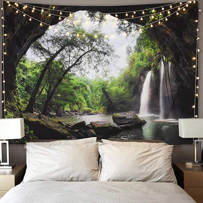 Amazon.com: Ice Jazz Mountain Cave Tapestry Waterfall